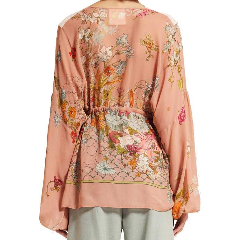 blusa semicouture in georgette fantasia fiori