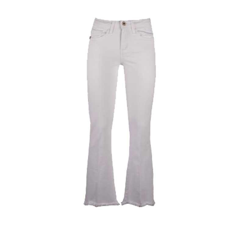 jeans biancjeans merci bianco modello a trombetta
