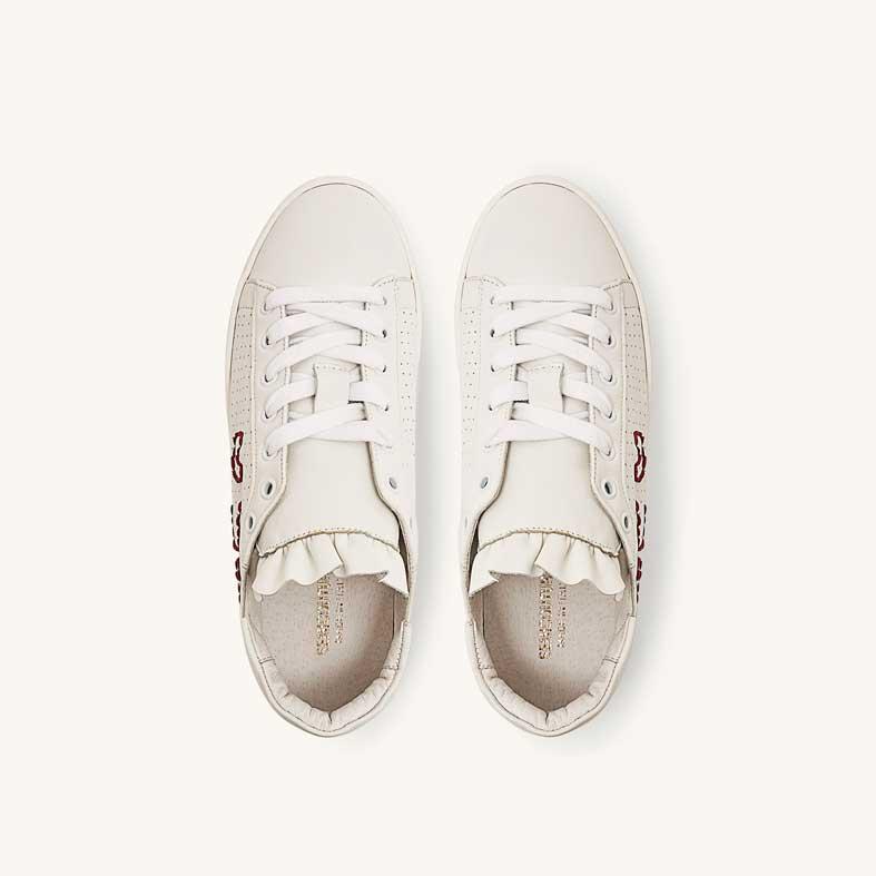 sneakers semicouture in pelle con logo