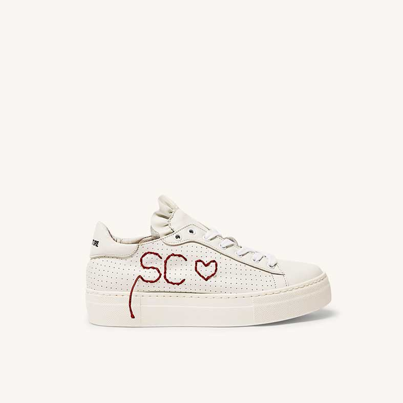 sneakers semicouture in pelle con logo