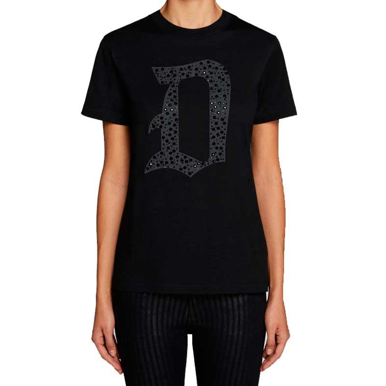 t-shirt dondup d gptica con applicazioni