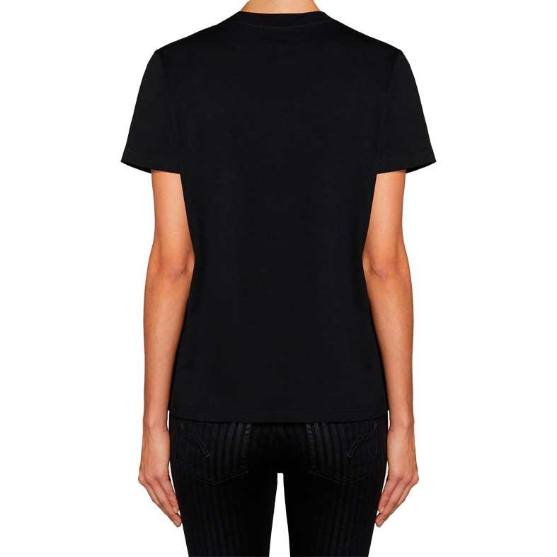 t-shirt dondup d gotica con applicazioni