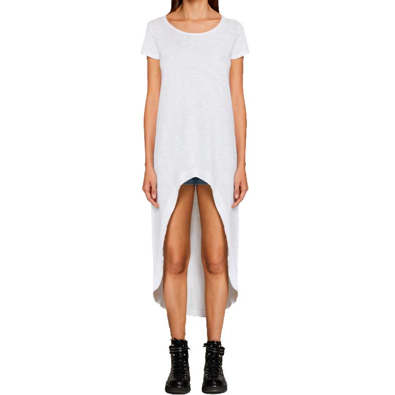 t-shirt lunga dondup cotone fiammato
