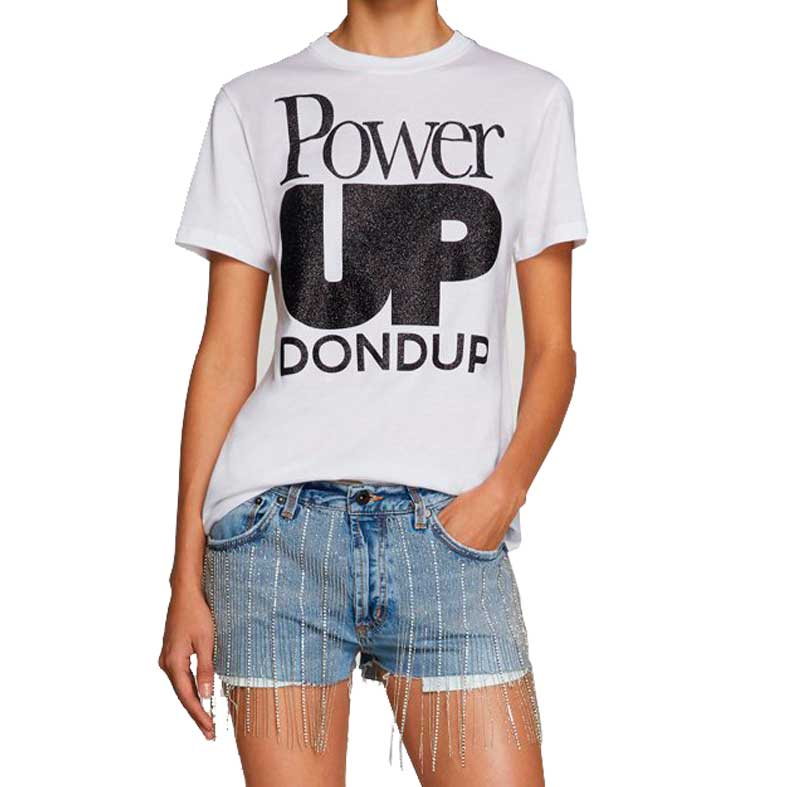 t-shirt dondup stampa glitter