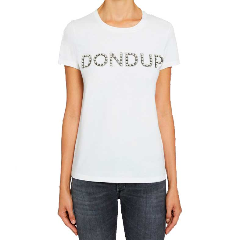 t-shirt dondup perline ricamate