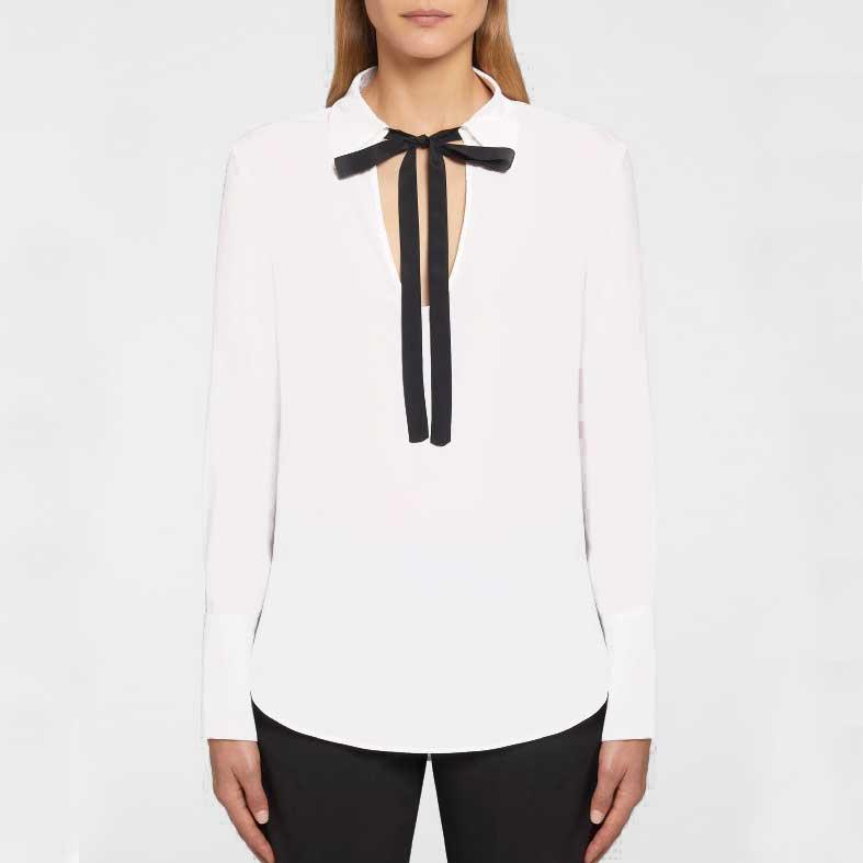 blusa dondup con fiocchetto