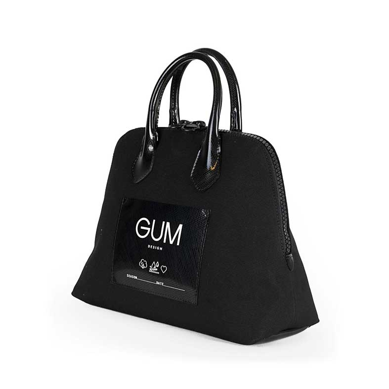 borsa gum canvas small nera
