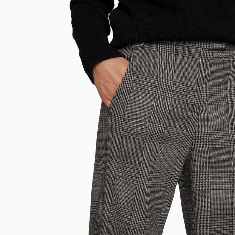 pantaloni ivy in lana dondup
