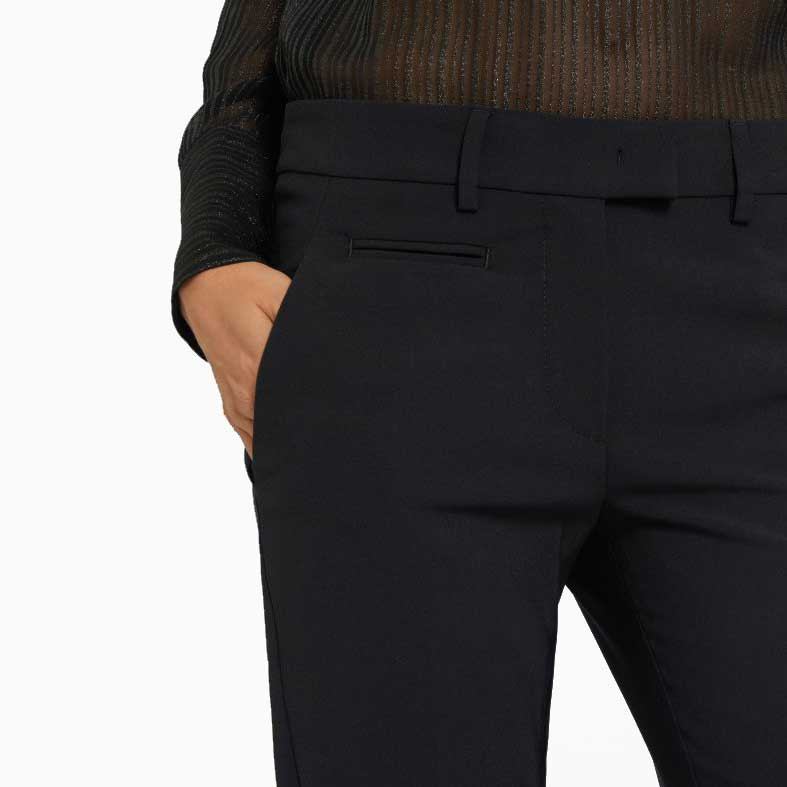 pantaloni dondup perfect in lana