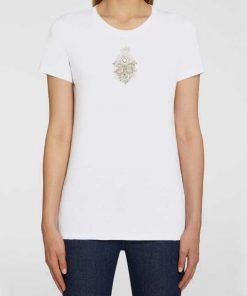 t-shirt dondup bianca con logo