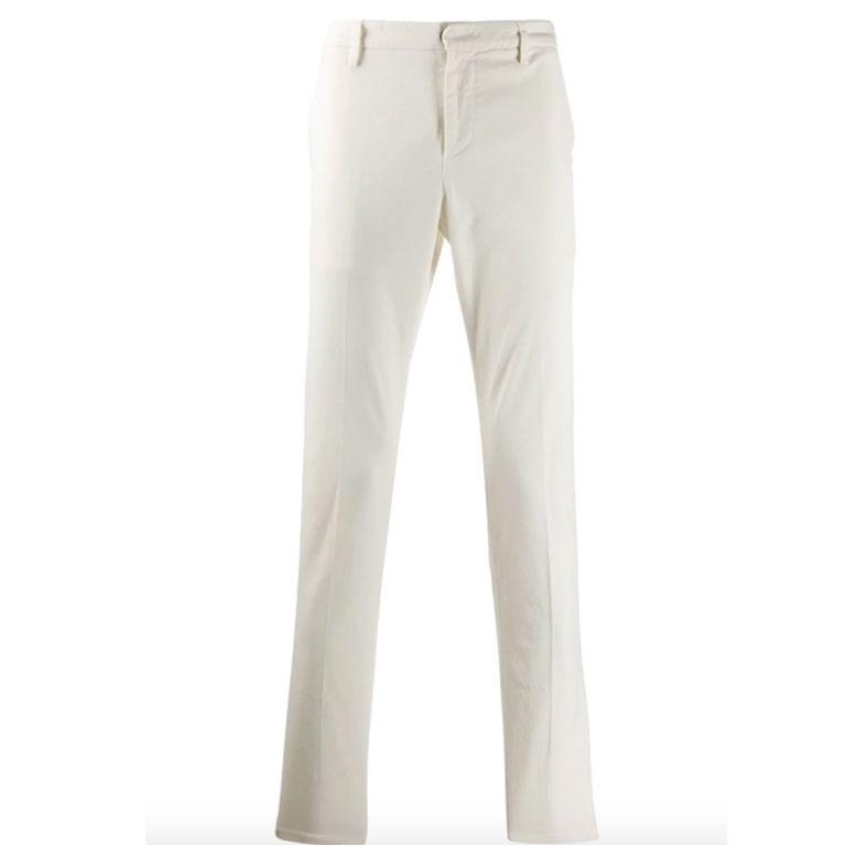 pantalone dondup gaubert bianco