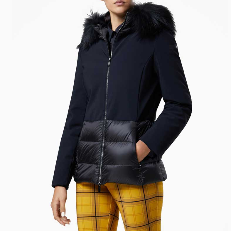 giubbotto rrd winter hybrid hood lady fur t nero