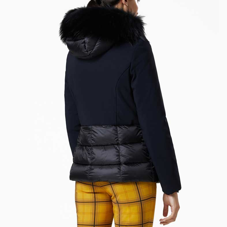 giubbotto rrd winter hybrid hood lady fur t nero