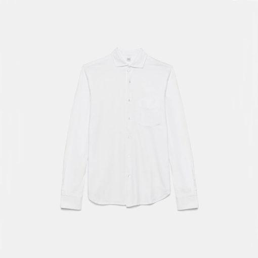 camicia aspesi jersey bianca