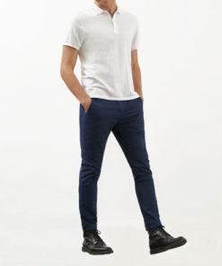 pantalone dondup gaubert blu