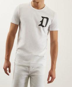 tshirt dondup logo bianca