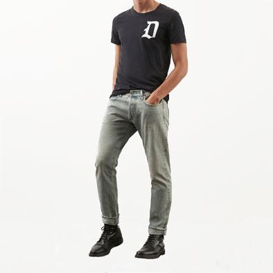 tshirt dondup logo blu