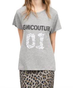 T-shirt Semicouture in jersey con logo