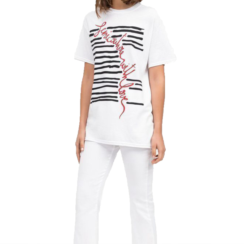 T-shirt Semicouture Elora con stampa