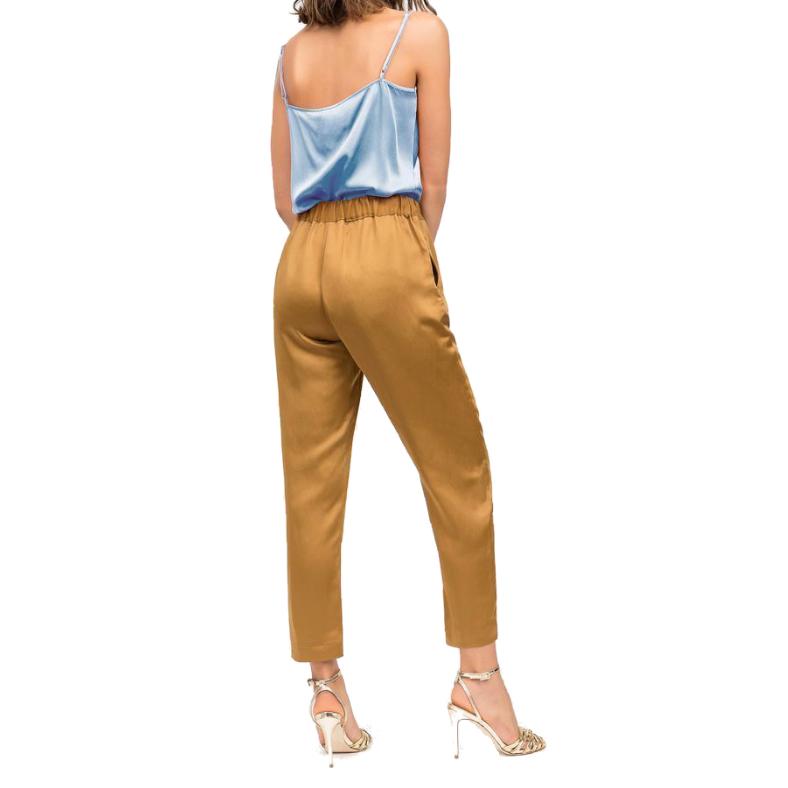 "Pantalone Semicouture ""buddy"" raso e lino"
