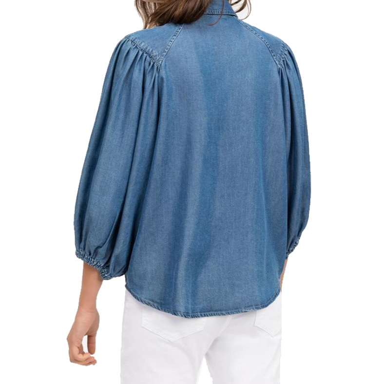 "Blusa Semicouture ""Louise"" in denim"