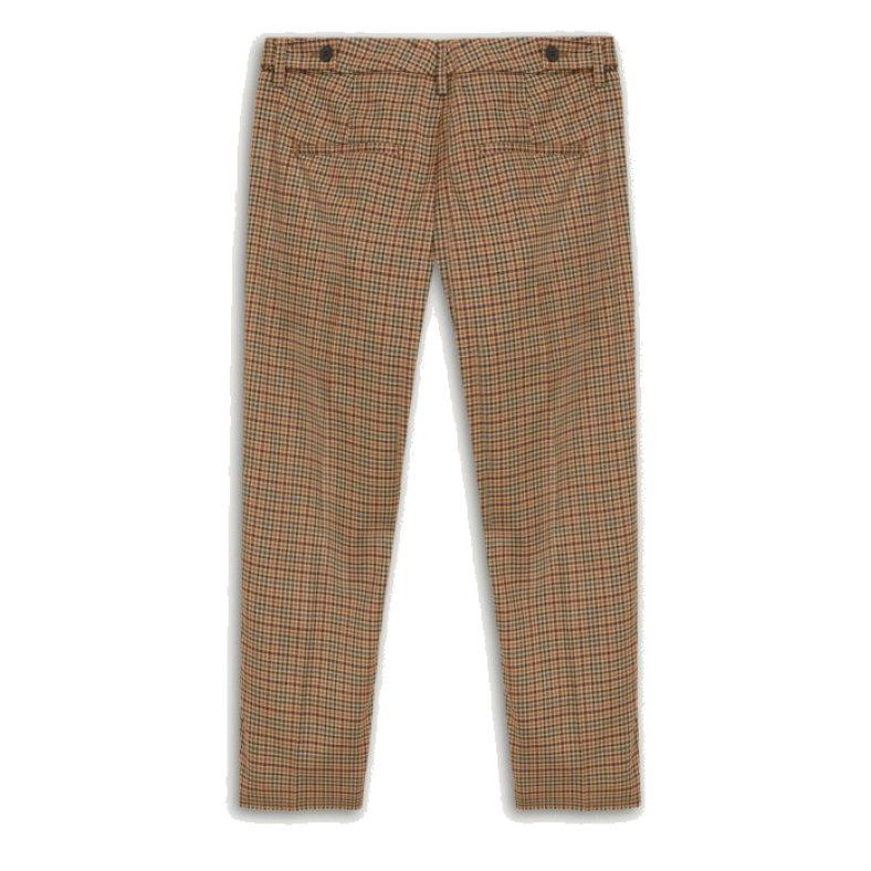 pantalone dondup ariel in check