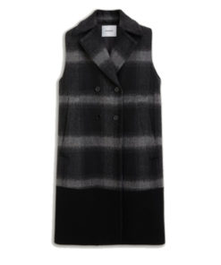 Cappotto smanicato dondup in lana