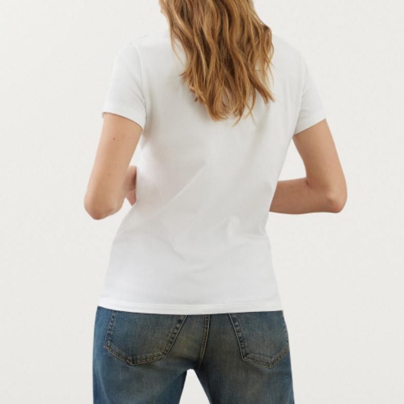 t-shirt dondup con logo in strass