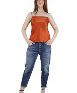 Top Dondup in raso arancio