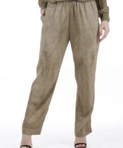 Pantalone Dondup Cleo in viscosa Fango
