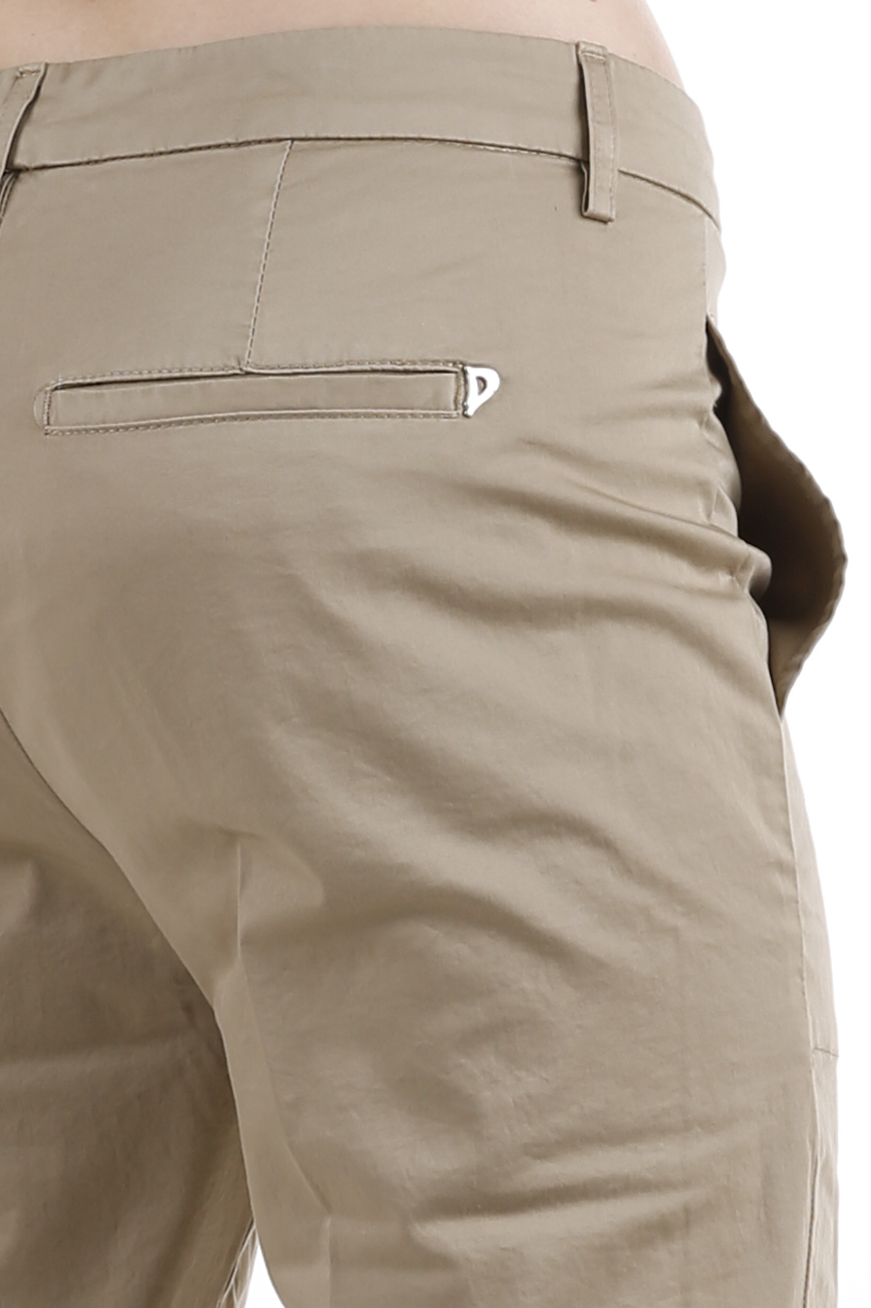 Pantalone Dondup Ela in raso Fango