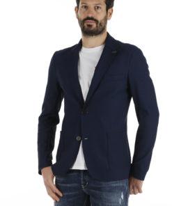 giacca bob blu