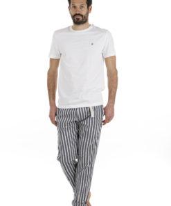 Pantaloni White Sand riga blu