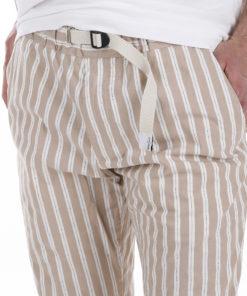 Pantaloni White Sand riga beige